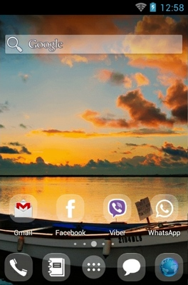 Beautiful android theme home screen