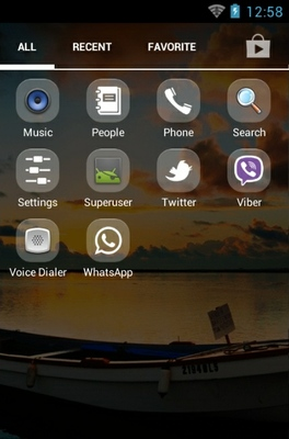 Beautiful android theme application menu