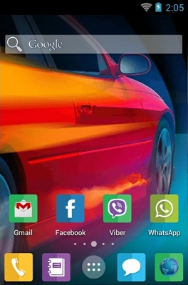 Car android theme home screen