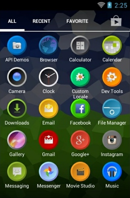 Threx android theme application menu