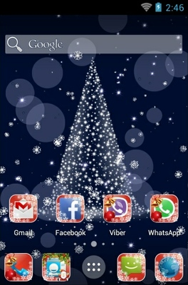 Merry KitKat Xmas android theme home screen