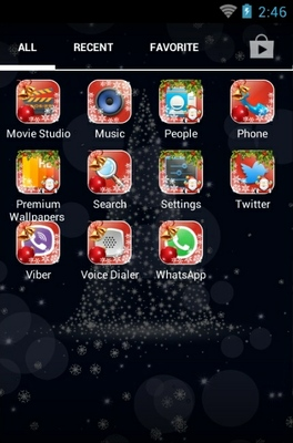 Merry KitKat Xmas android theme application menu