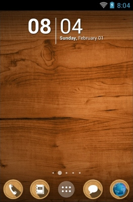 android theme 'Wood'