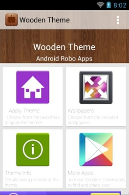 Wood android theme