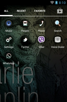Charlie Chaplin android theme application menu