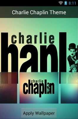 Charlie Chaplin android theme wallpaper