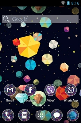 Colorful Pattern android theme home screen