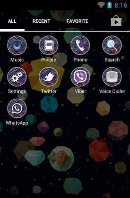 Colorful Pattern android theme application menu