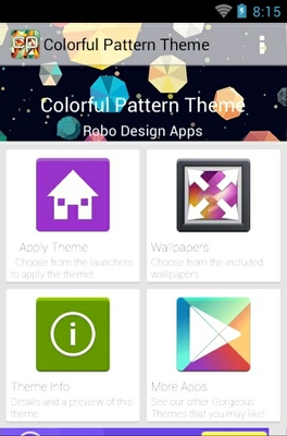Colorful Pattern android theme