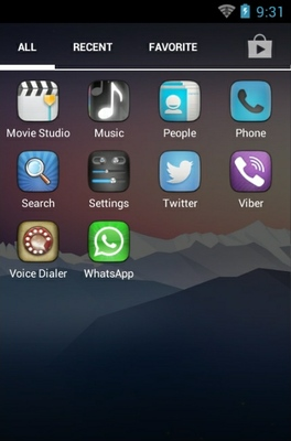 Elegance android theme application menu