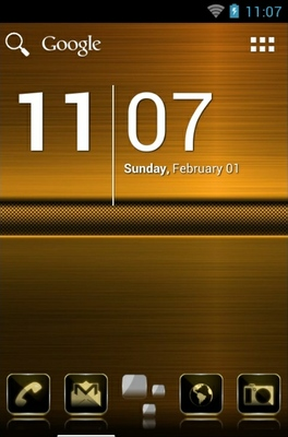 android theme 'Luxury Gold HD'