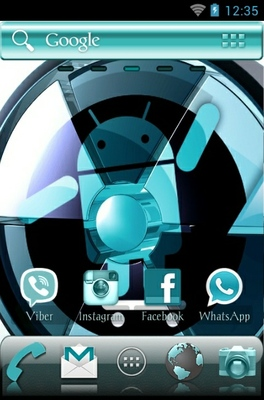 Cyanogen android theme home screen