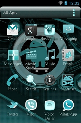 Cyanogen android theme application menu