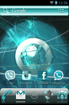 Cyanogen android theme wallpaper
