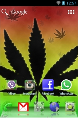 Ganja android theme home screen