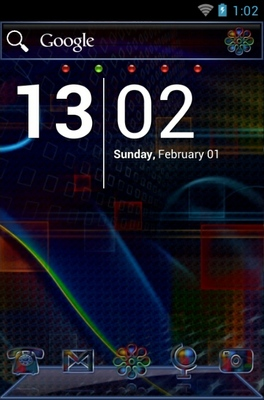 Techno Rainbow android theme
