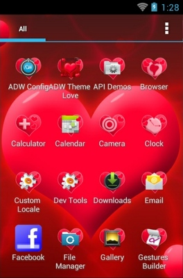 Love android theme application menu