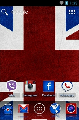 Britainizer android theme home screen