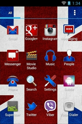 Britainizer android theme application menu