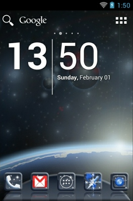 android theme 'Universe'