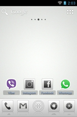 Aerish GTX android theme home screen
