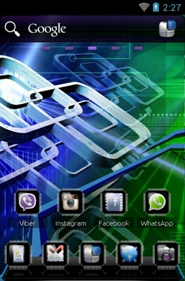 Tech android theme home screen