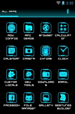 Legacy Neon Android Theme For ADW Launcher #1: legacy neon android theme 3 264x400