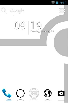 android theme 'Minimalist Black'