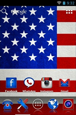Americanizer android theme home screen