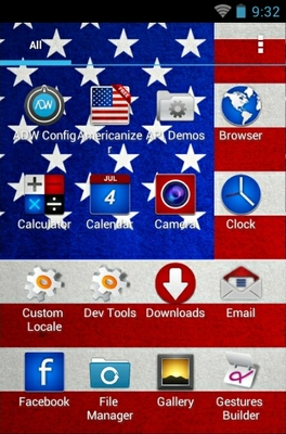 Americanizer android theme application menu