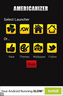 Americanizer android theme launcher menu