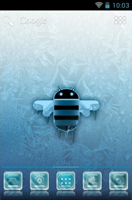android theme 'Frozen Android'
