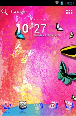 Butterfly android theme