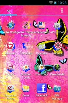 Butterfly android theme application menu