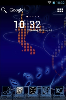 Music android theme