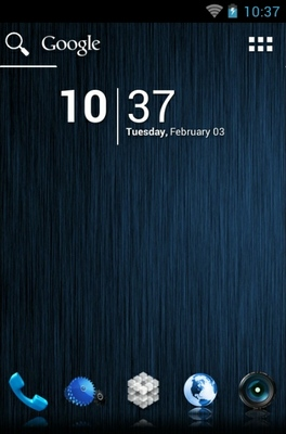 android theme 'Blue'