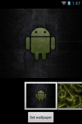 Yellow android theme wallpaper