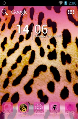 android theme 'Pink Leopard'