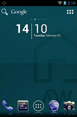 android theme 'StockBlue'