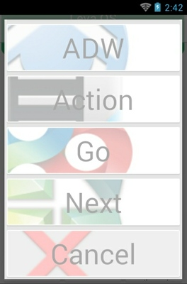 Lewa OS android theme launcher menu