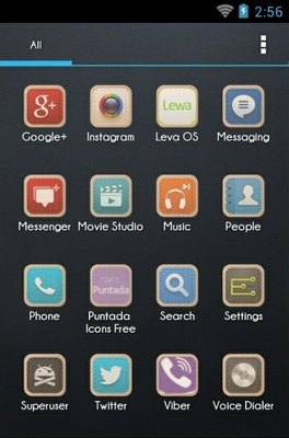Puntada android theme application menu