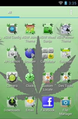 Green Ganja android theme application menu
