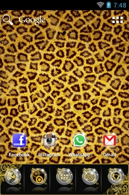 Leopard android theme home screen