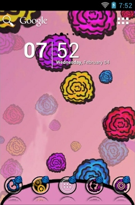Flowers android theme