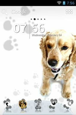 android theme 'Cute Dog'