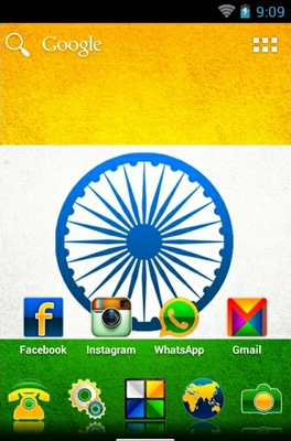 Indianizer android theme home screen