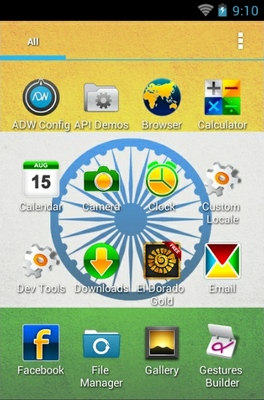 Indianizer android theme application menu