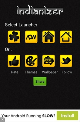 Indianizer android theme launcher menu