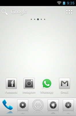 Aerish GTX CM7 android theme home screen