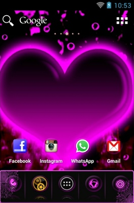 Hearts android theme home screen